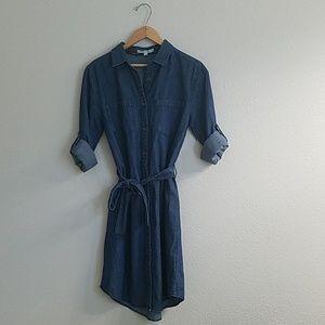 Hint of mint Denim Shirt Dress